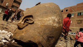 Pharaoh Ramses II statue unearthed in Cairo Egypt 1