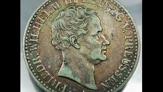 Germany Prussia Ein Thaler 1830 Old Silver Coin