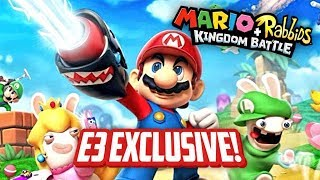 NEW MARIO RPG EXCLUSIVE E3 GAMEPLAY (Mario+Rabbids Kingdom Battle)