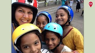 Lisa Sadanah aka Bandra Helmet Girl promotes road safety I Mumbai Live