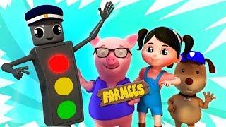 Traffic Signal Song   Baby Songs And Nursery Rhymes   Kids Cartoon Videos by Farmees