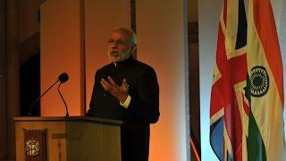 PM Modi's speech at Guildhall, London