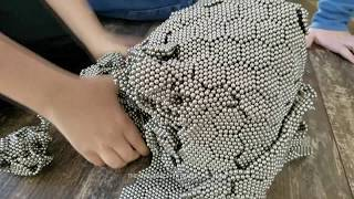 50,000 Zen Magnets vs. Cannon Ball Satisfying Buckyballs