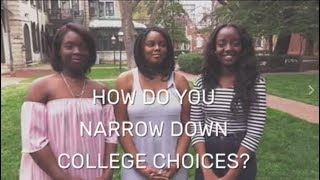 Narrowing Down Your College Choices