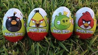 Angry Birds Surprise Eggs Chocolate Eggs Angry Birds Toys Ядосани птици Toy Review