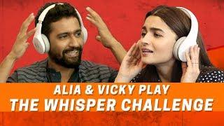 Alia Bhatt And Vicky Kaushal | The Whisper Challenge | Raazi | MissMalini