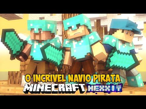 Minecraft Hexxit - O Incrível NAVIO PIRATA