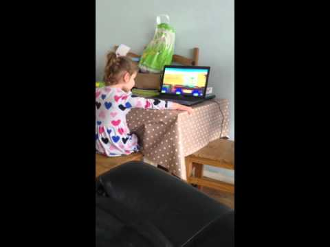 My autistic 3 year old niece counting