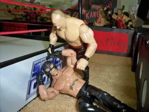 BRW Heavyweight Championship Falls Count Anywhere Match Kane vs Rey Mysterio