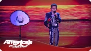 Young Mariachi Amazes Crowd With Voice - AGT Sebastien
