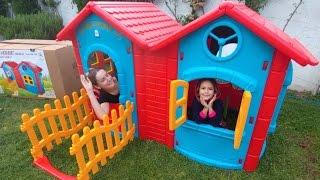 Elife 2 odalı çitli ev. Çok beğendik, eğlenceli çocuk videosu