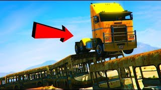 GTA 5 ONLINE | MY AWESOME TRUCK PARKOUR