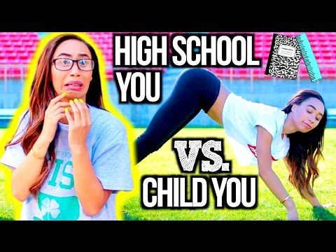 High School You Vs. Child You! | MyLifeAsEva