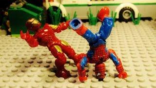 *Mega Bloks* Spiderman vs Iron Man 4