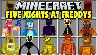 Minecraft FIVE NIGHTS AT FREDDY'S MOD | FREDDY, BONNIE, CHICA, THE PUPPET!!