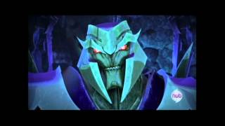 TRANSFORMERS PRIME: Megatron vs. Bumblebee, Bulkhead, Ratchet, Arcee.....and then Optimus!
