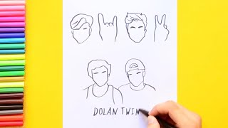 How to draw Dolan Twins Sign