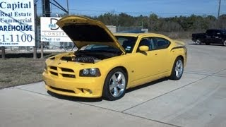 2007 dodge charger srt8 diablo intune 91 tune round 2  (and a nice burnout)