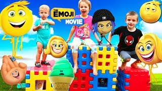 THE EMOJI MOVIE Scavenger Hunt Backyard Playground Search For Toys Gene Review