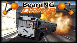 Jogando BeamNG Drive - O Busão a Jato de 550Km/h!