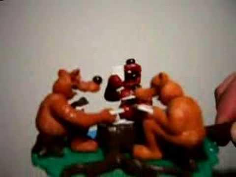 Karten zockende Bären
