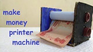 how to make money printer machine | magic trick|very easy
