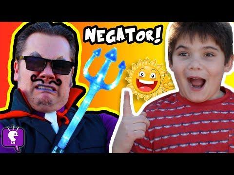 Cranky NEGATOR Ruins Our Day Comedy Sketch HobbyKidsTV