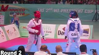 [Final] Female -73Kg | Bianca WALKDEN vs Wiam DISLAM | WT African Taekwondo Open Agadir 2018