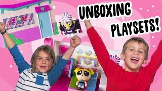 POWERPUFF GIRLS PLAYSETS   UNBOXING TOY SETS   The Powerpuff Girls   Cartoon Network