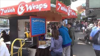 London Street Food. Turkish Food, Yummy Wraps. Seen in Camden Markeet, Camden Town