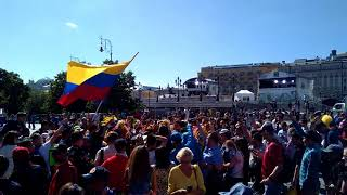 World cup. Football fans. Colombia. June 15