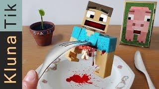 MINECRAFT:  EATING STEVE!!!!!    Kluna Tik Dinner #75 | ASMR eating sounds no talk