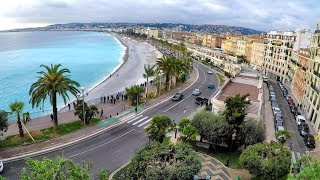 Wonderful View of Nice, France. A Walk to the Top of Parc du Chateau