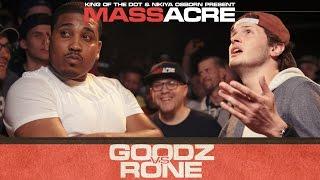 KOTD - Rap Battle - Rone vs Goodz   #MASSacre