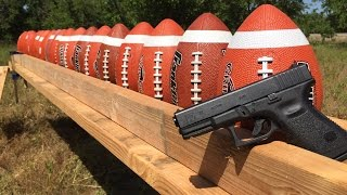 GLOCK 19 VS FOOTBALL🏈🏈🏈