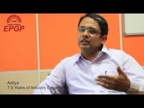 EPGP IIMB testimonials Student Speak Why an MBA Video 2