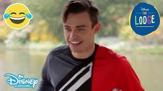 The Lodge | Hula Hoop Challenge ft Thomas Doherty | Official Disney Channel UK