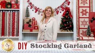 DIY Stocking Advent Garland & Christmas Place Settings | a Shabby Fabrics Sewing Tutorial