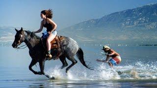 Horse Surfing! Most Epic Skim Tricks! | DEVINSUPERTRAMP