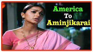 America To Aminjikarai Tamil Movie | Scenes | Anushka meets Bhumika | Jagapati Babu | Arjun