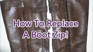 How To Replace A Boot Zip!