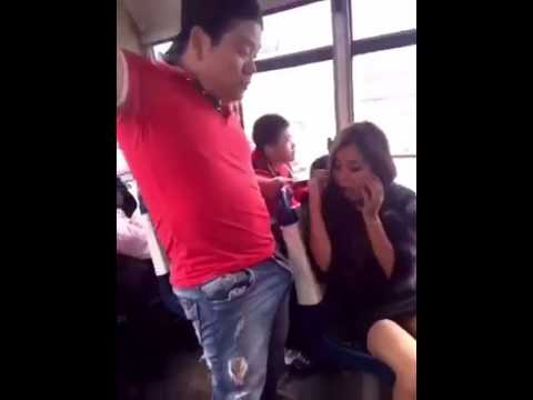 Dirty funny video in bus