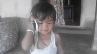 A little child boy Rohit Kumar and Kavya Tirwa are dancing well.....