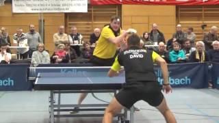 Petr David vs Erik Bottroff 1  Zoom Tabletennis Bundesliga 2 TV Hilpoltstein vs BVB Dortmund 2016120