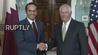 USA: Tillerson and Qatari FM skip speaking to press following meeting