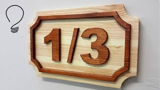 How To Make a House Number (Raised Shapes) on the Scroll Saw