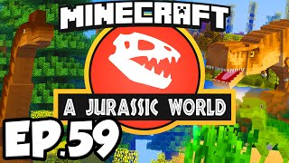 Jurassic World: Minecraft Modded Survival Ep.59 - CONTINUING THE HOTEL!!! (Dinosaurs Modpack)