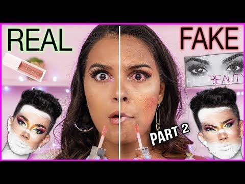 FULL FACE OF FAKE vs. REAL MAKEUP allergic reaction on camera Natalies Outlet