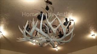 Home made beautiful Antler chandelier, Wife's first video..