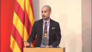Discurs Pep Guardiola Medalla d'Honor Parlament [Subtitulos Castellano]